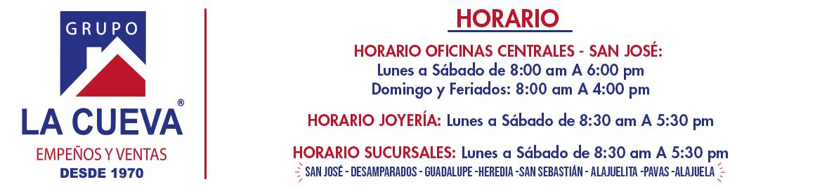 Horario La Cueva